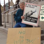 Photo by Donna Johnson Pat Huhn was a regular at annual Tax Day protests outside the downtown Colorado Springs Post Office.
