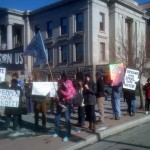 Fracking protest at Colorado Springs City Hall