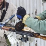 "AK-47 destroyed in ""Guns-to-Garden Tools"" project"