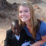 Danielle Glassner with young Ugandan