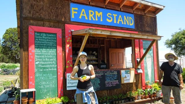 Santa Cruz Homeless Garden Project helps sustain its programs by selling produce at a farm stand and through a Community-Supported Agriculture (CSA) group.